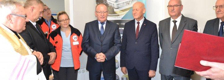 Inauguracja pracy nowego pomieszczenia dla ratowników medycznych