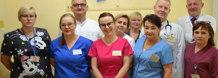 Część personelu Oddziału Onkologii Klinicznej i Pracowni Leków Cytostatycznych w Krotoszynie